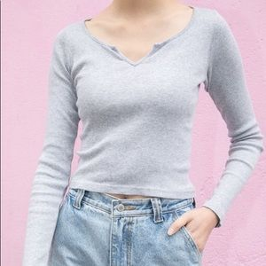 Brandy Melville grey long sleeve